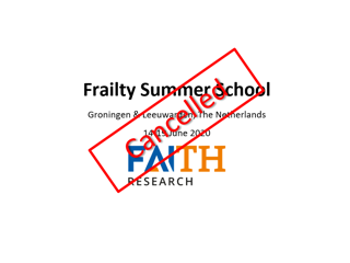 Geannuleerd | FAITH Frailty Summer School