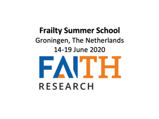 FAITH Frailty Summer School 2020: 14-19 Juni 2020